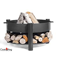 Feuerschale CookKing Montana schwarz XXL ✔ rund ✔ tragbar