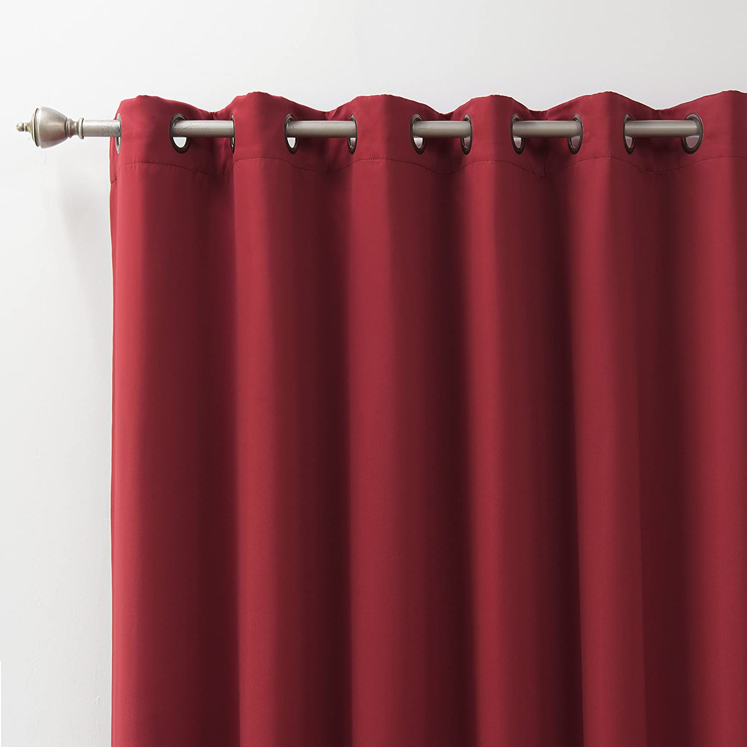 Best Home Fashion Premium Cardinal Red Wide Width Grommet Top Thermal Blackout Curtain
