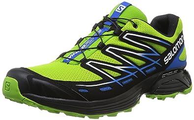 Salomon Wings Flyte - Zapatillas trail running para hombre - verde/azul Talla 45 1/3 2015: Amazon.es: Zapatos y complementos