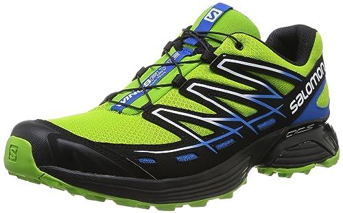 Salomon - Zapatillas de Running de Material Sintético para Hombre Verde Verde: Amazon.es: Zapatos y complementos