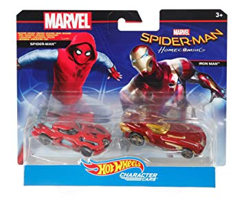 9d4b31a0 Hot Wheels Marvel - Spider-Man Homecoming and Iron Man Die Cast Vehicles 2  Pack, Die-Cast Vehicles - Amazon Canada