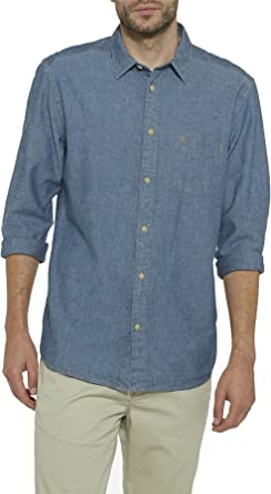 Wrangler Camisa vaquera para hombre 1Pkt Camiseta regular azul (Dark Iindigo) azul S: Amazon.es: Ropa y accesorios