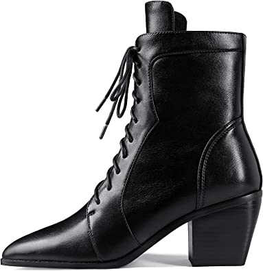 MOCORALS Women's Pointed Toe Lace-up