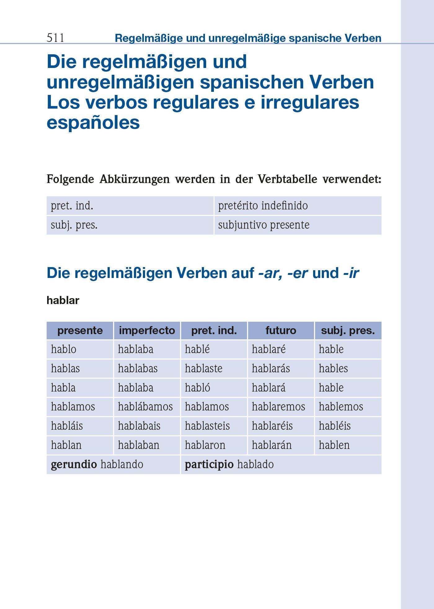 Unregelmäßige verben spanisch indefinido