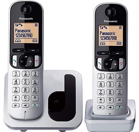 Panasonic KX-TGD312 - Teléfono Fijo inalámbrico Dúo (LCD, identificador de llamadas, agenda de 120 números, bloqueo de llamada, modo ECO, reducción de ruido), Negro: BLOCK: Amazon.es: Electrónica