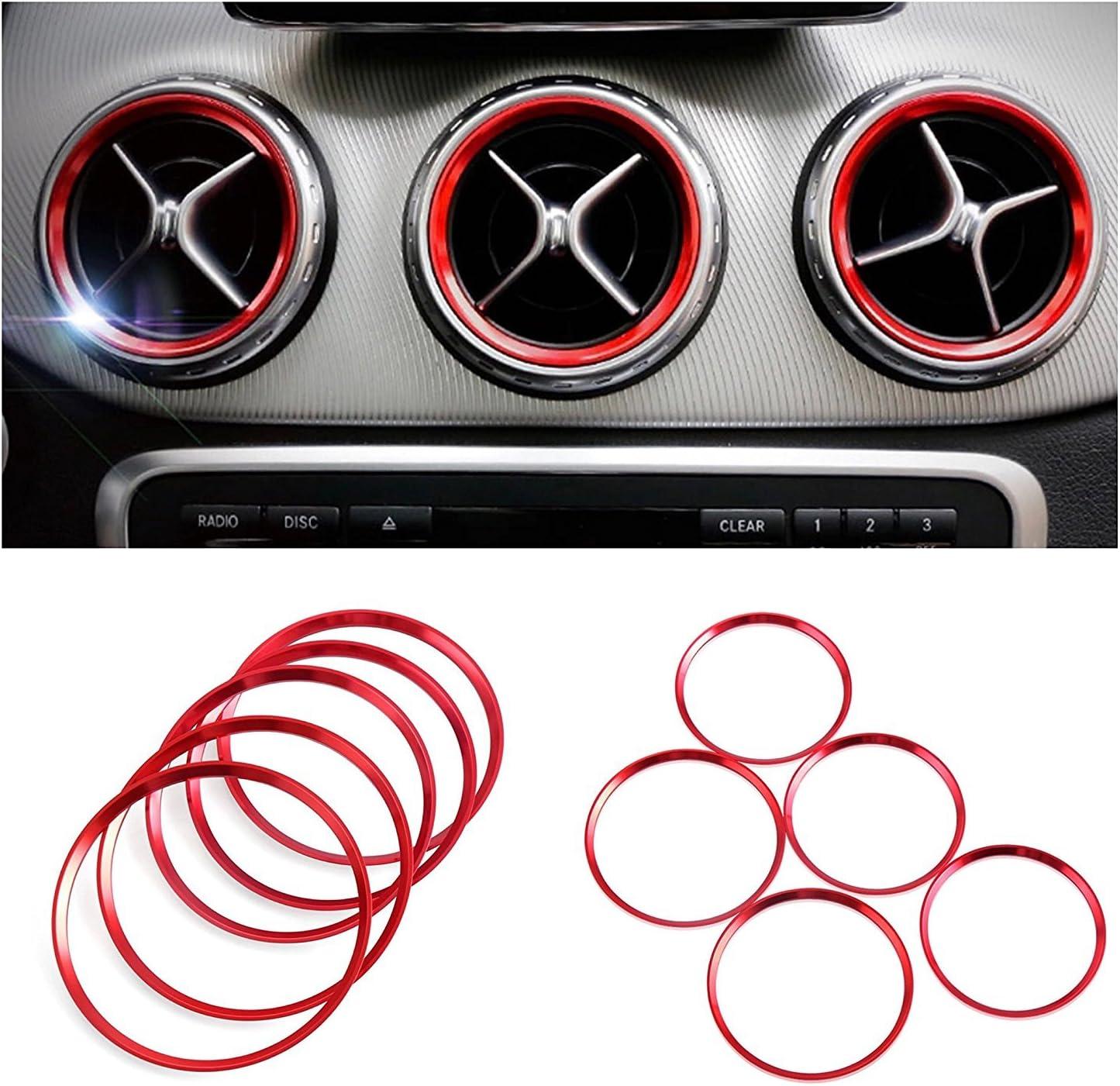 Emblem Trading Emblem Innenraum Set Lüftungs Ringe Rahmen Zierring Für A B Gla Cla W176 W246 X157 C117 Auto