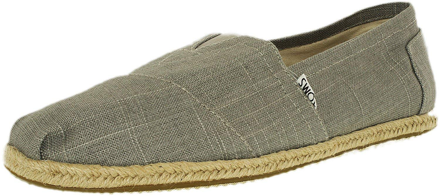 TOMS 10008381 Men's Classics Linen Rope-Sole Slip-On, Grey Linen, 10 D(M) US by TOMS