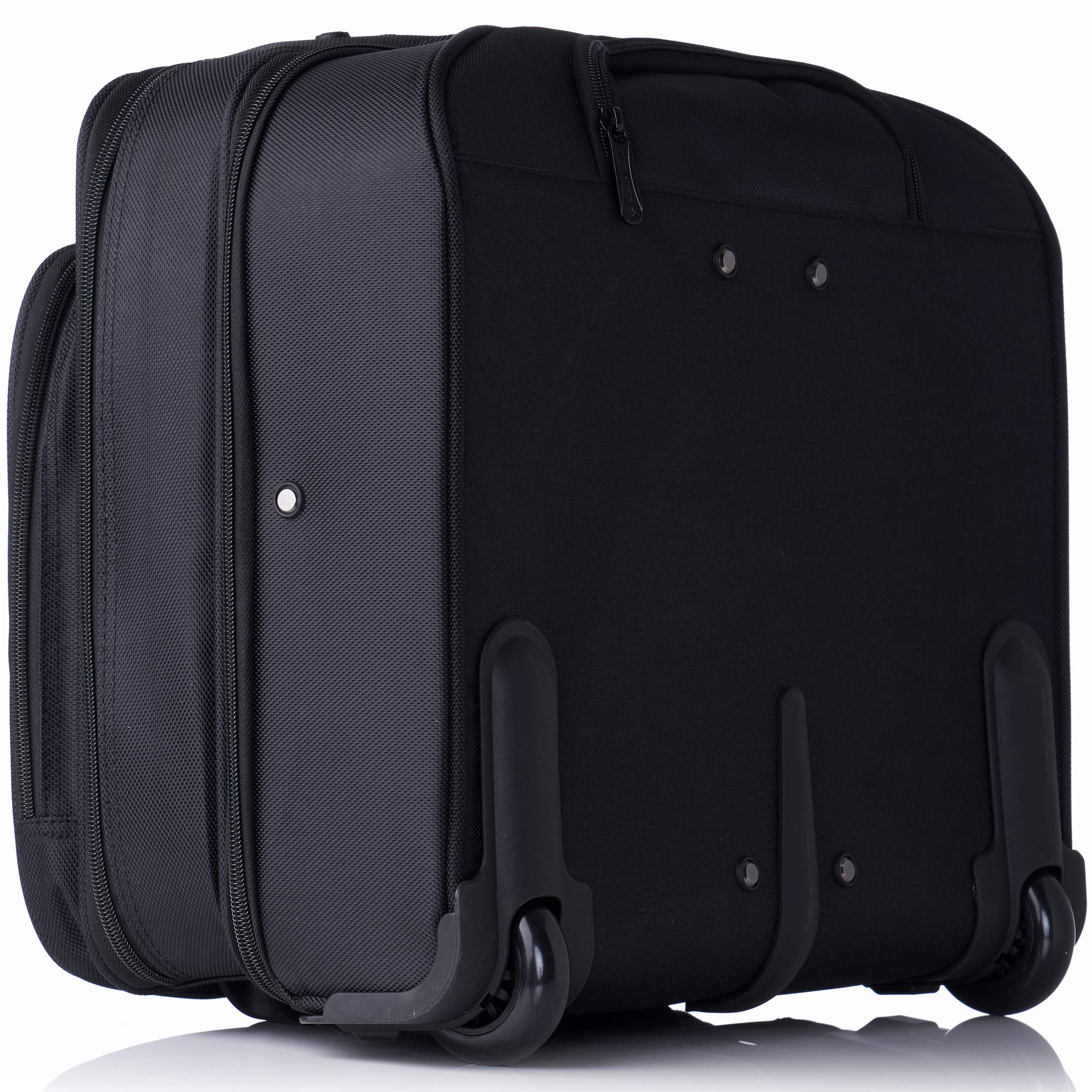 Alpine Swiss Rolling Laptop Briefcase Wheeled Overnight Carry on Bag Up to 15.6 Inches Notebook - Carries Legal Size Files by alpine swiss (Image #7)