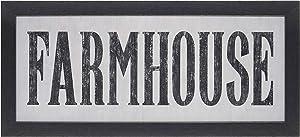 Homekor Farmhouse Rustic Decor Sign - Vintage Primitive Country Framed Wall Plaque 22 x10 (Farmhouse)