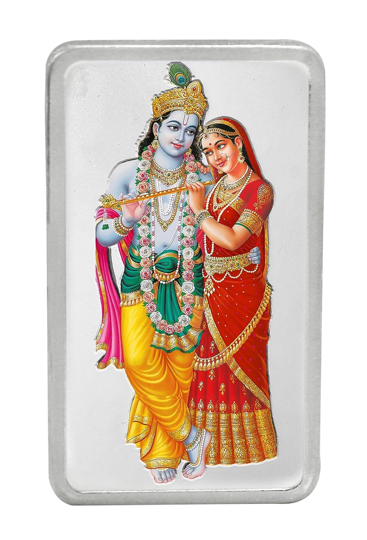 Kundan 20 gm, 999 Silver Radha Krishna Precious Coin