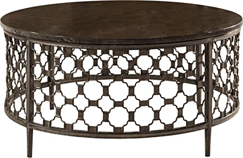 Hillsdale Furniture Hillsdale Brescello Round Coffee Table, 36 , Charcoal Blue Stone