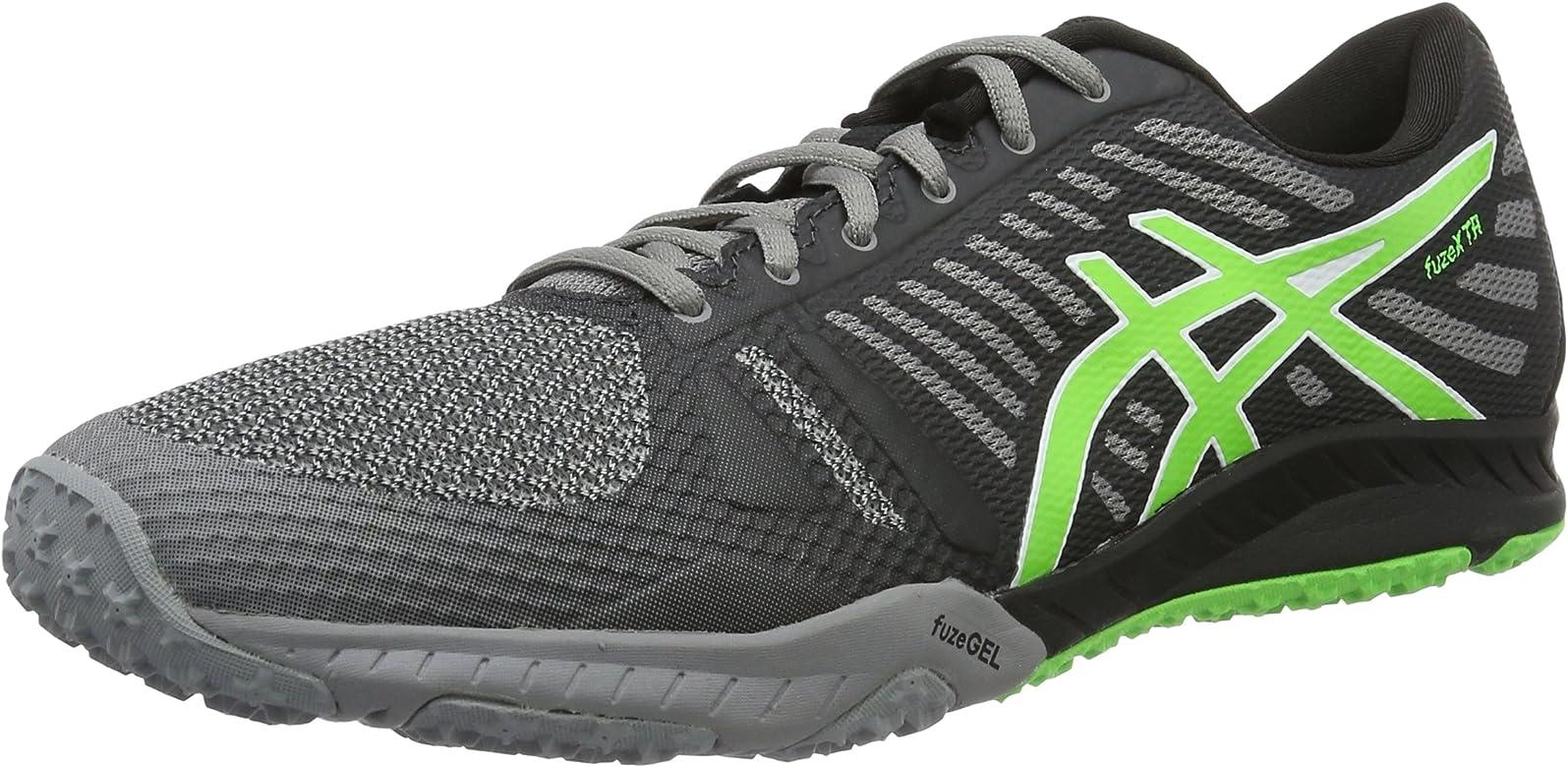 Asics fuzeX TR, Zapatillas de Running para Hombre, Gris (Grau/grün), 42.5 EU: Amazon.es: Zapatos y complementos