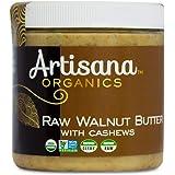 Artisana Organics Raw Walnut Butter with Cashews, 9oz   No Sugar Added, Just Two Ingredients   Vegan, Paleo, and Keto Friendl