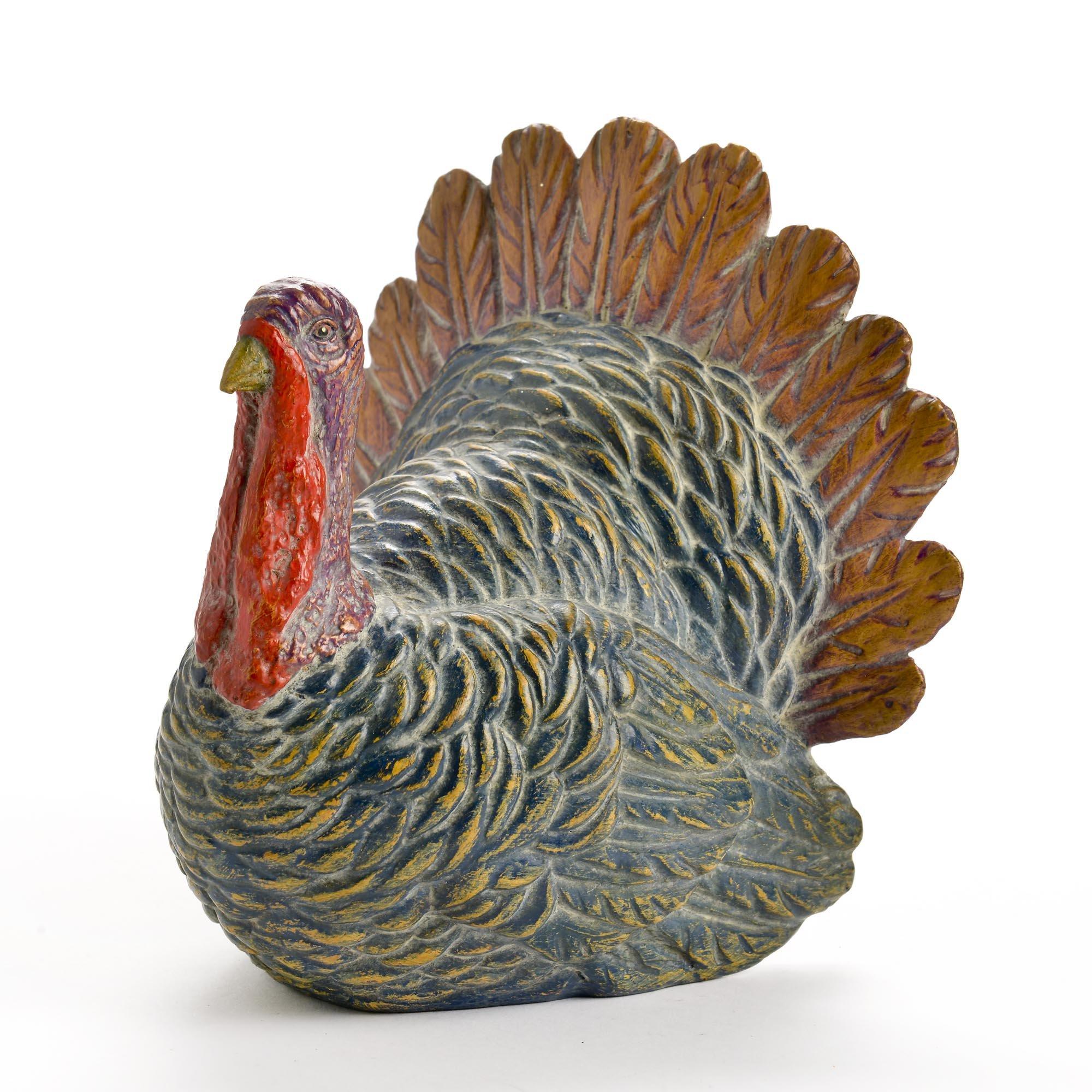 Caffco Fall Turkey Small Resin Thanksgiving Figurine