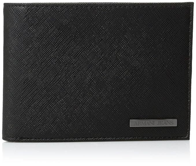 db4a78ee981c Armani Jeans Men s Billfold Wallet Black One Size  Amazon.co.uk ...