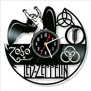"""Led Zeppelin Vinyl Clock, Wall Clock 12"""", Unique Original Decor, The Best Home Decorations"""