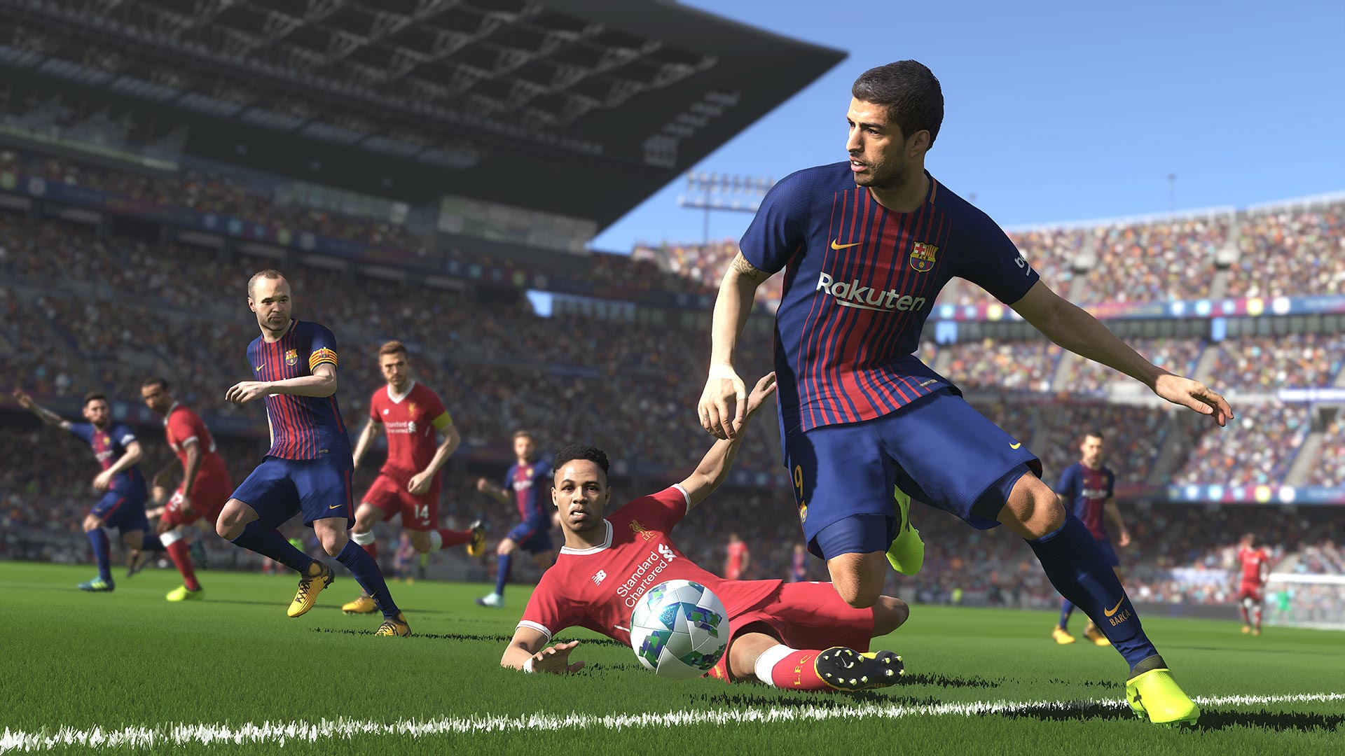 Amazon Com Pro Evolution Soccer 2018 Fc Barcelona Edition Online