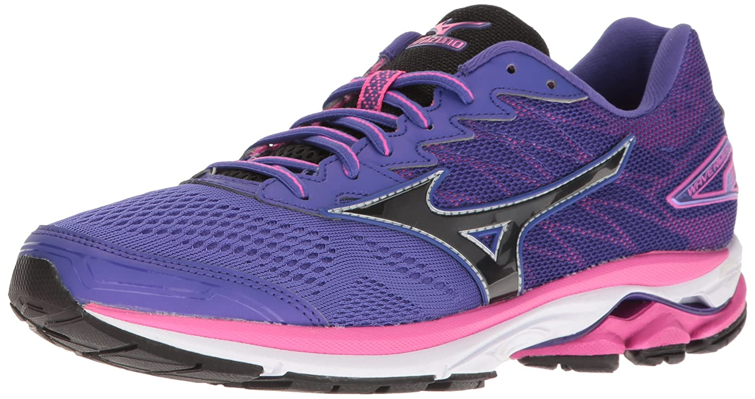 Mizuno Women's Wave Rider 20 Running Shoe B01H3EDGTM 6.5 B(M) US|Purple/Black