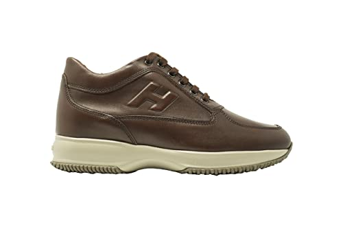Hogan Interactive Uomo HXM00N090417X7G839 Sneakers Pelle Grigio 6 ... 1dbd8a6d57a