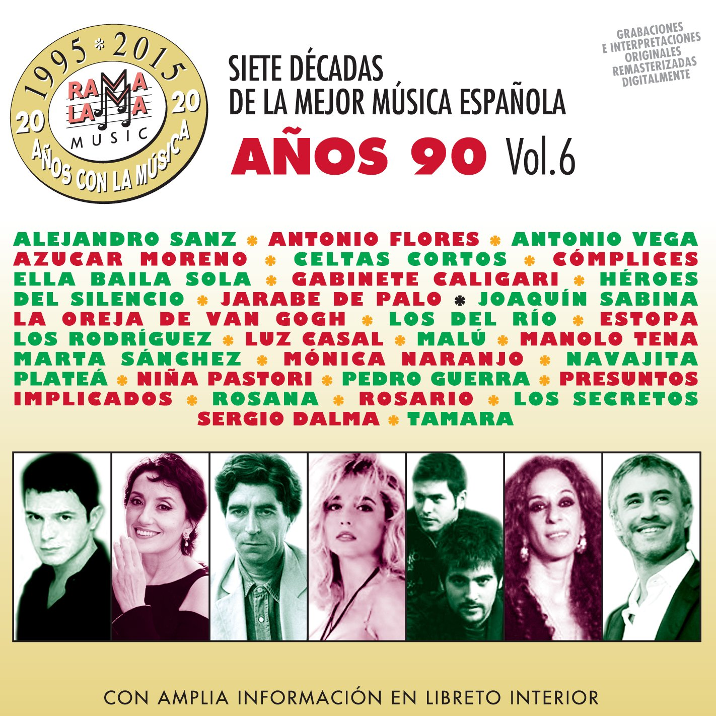 Siete Decadas De La Mejor Música Española Años 90. Vol. 6: Varios: Amazon.es