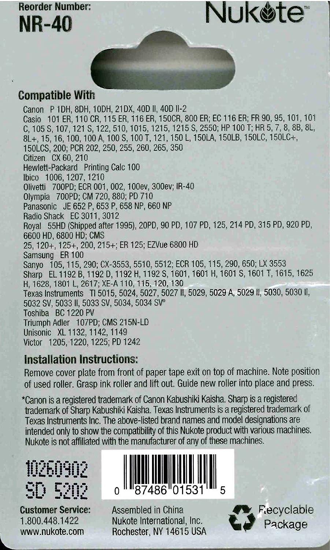Box of 12 **FRESH** Nukote Universal Calculator NR-40 Calculator ...