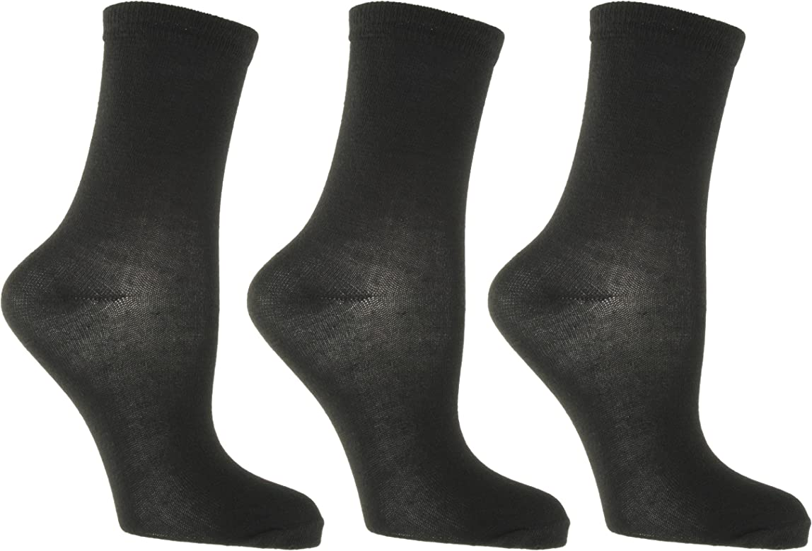 6 PACK Plain Dark Grey Ankle Socks Size: 4-7