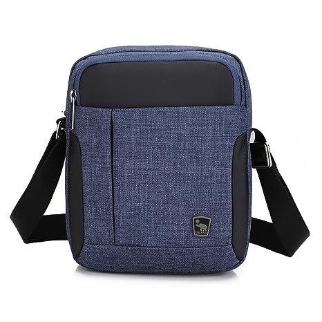 105c8b81b3 OIWAS Borsello Uomo Tracolla Borse a Spalla Piccola Borsa Messenger Bag per  Mini iPad Viaggi Vacanza