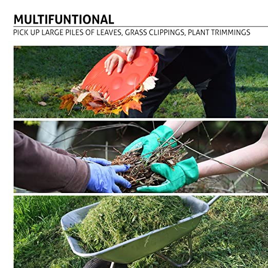 Palas de mano GardenHOME para recoger hojas, 2 unidades ...