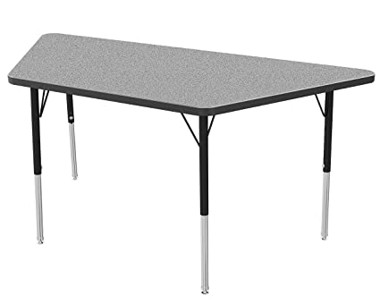 16-24 Toddler Size Legs Marco Group    AMG2237-77-ABLK 30 x 60 Classroom Table  Adjustable Height Gray Nebula-Top Black-Edge