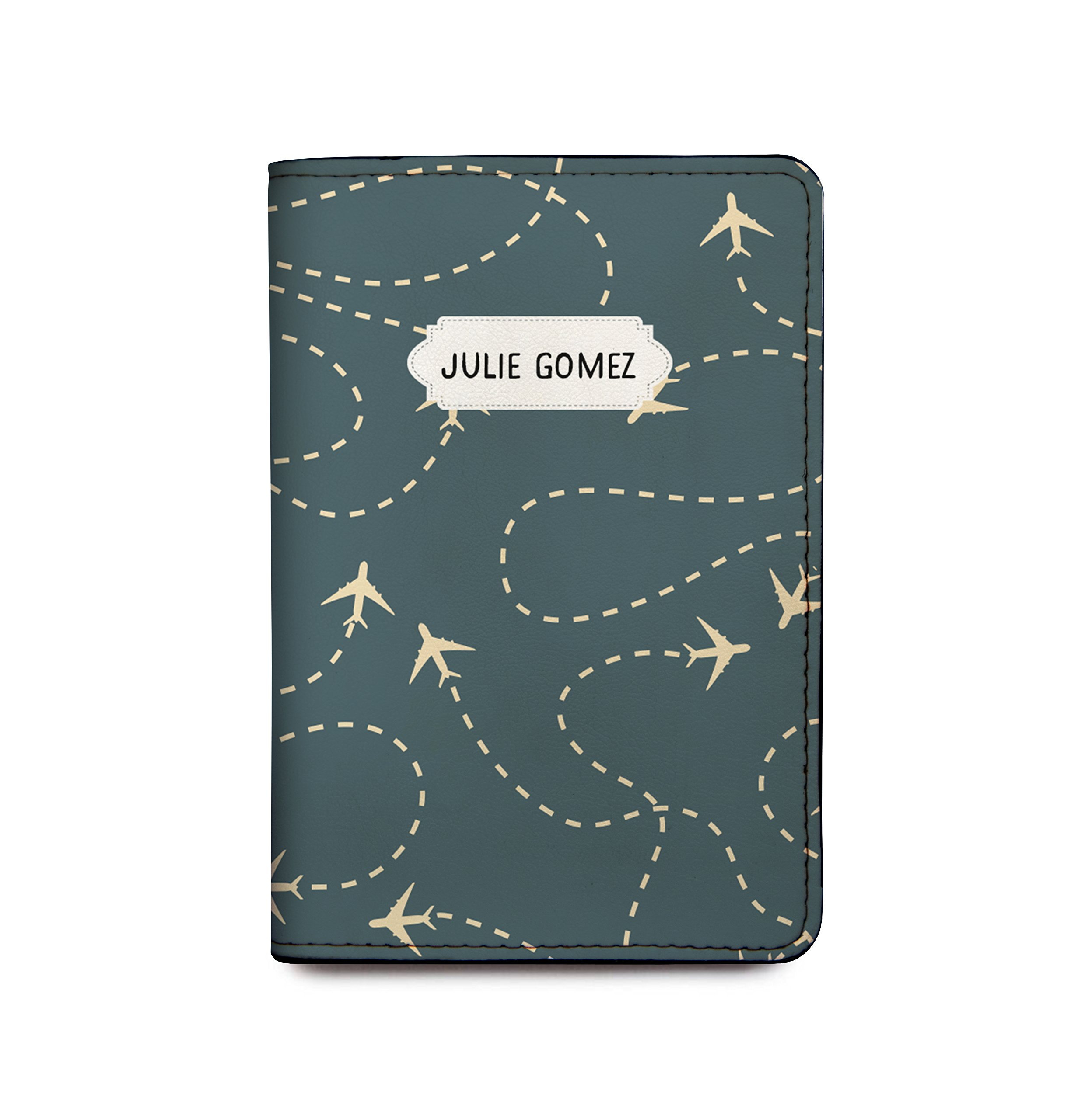 Customized RFID Blocking Leather Passport Holder Airplanes by With Love From Julie (Image #1)