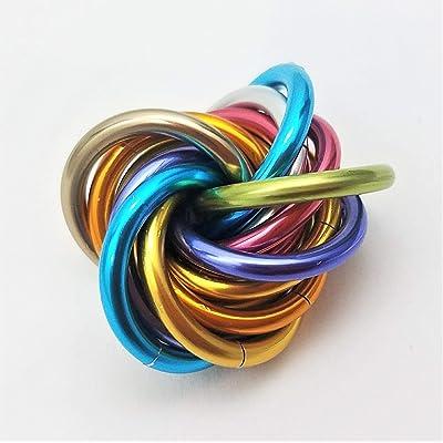 Möbii Unicorn Rainbow: Small Fidget Ball Stress Mobius Toy, Restless Hand Office, School, Anxiety