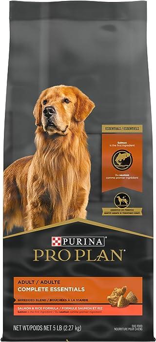 Purina Pro Plan With Probiotics, High Protein Dry Dog Food, Shredded Blend Salmon & Rice Formula - 5 lb. Bag
