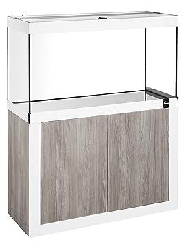 Diversa Fin Line LED 80 * 35 Truffle/White Acuario Completo de Mueble y luz de LED 17 W: Amazon.es: Productos para mascotas
