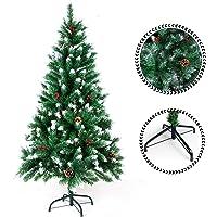 SunJas Árbol de Navidad Artificial Árbol Pino Decoración