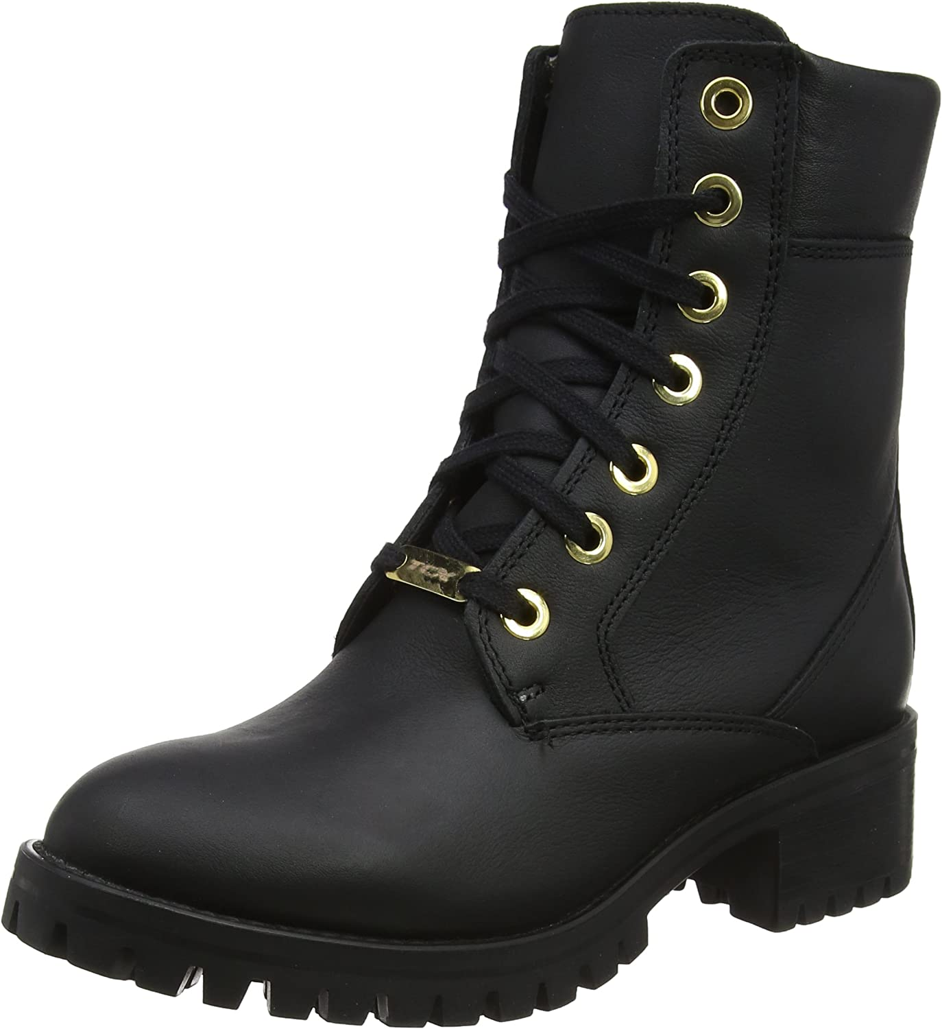 Black TCX Lady Smoke Motorcycle Boots Size 36