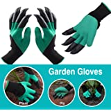 Garden Gloves with Fingertips Claws Quick– Great for Digging Weeding Seeding poking -Safe for Rose Pruning –Best Gardening Tool -Best Gift for Gardeners (Claws on EACH hand 2 Pairs, Green)