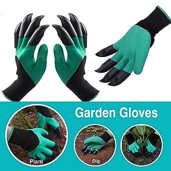 Di alta qualità 4 ARTIGLI facile Guanti da giardinaggio scavare piantare plastica ABS resistente