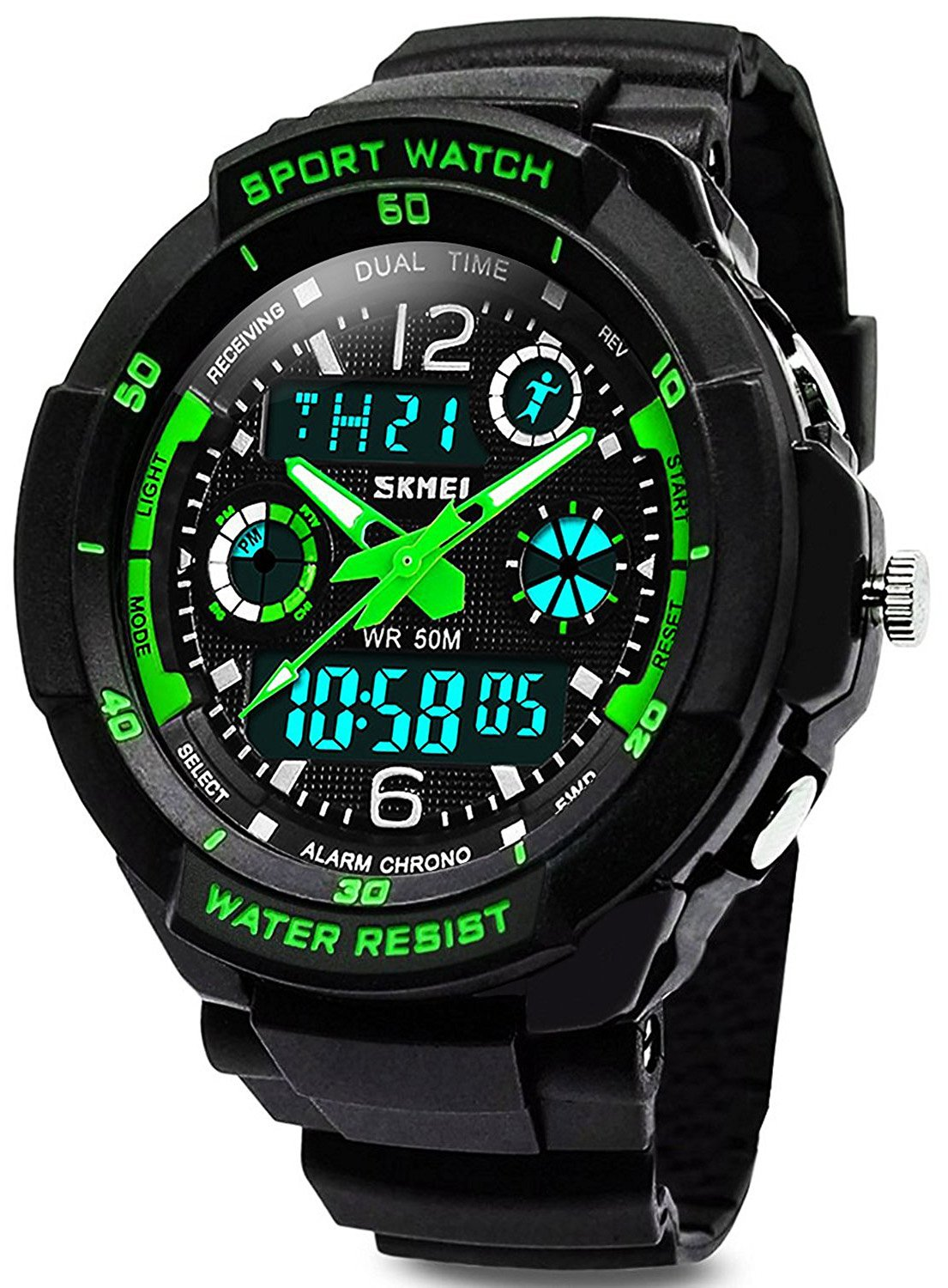 KIDPER Kids Sports Digital Watch - Boys Analog Waterproof Sport Watches with Alarm,LED Watch For Childrens