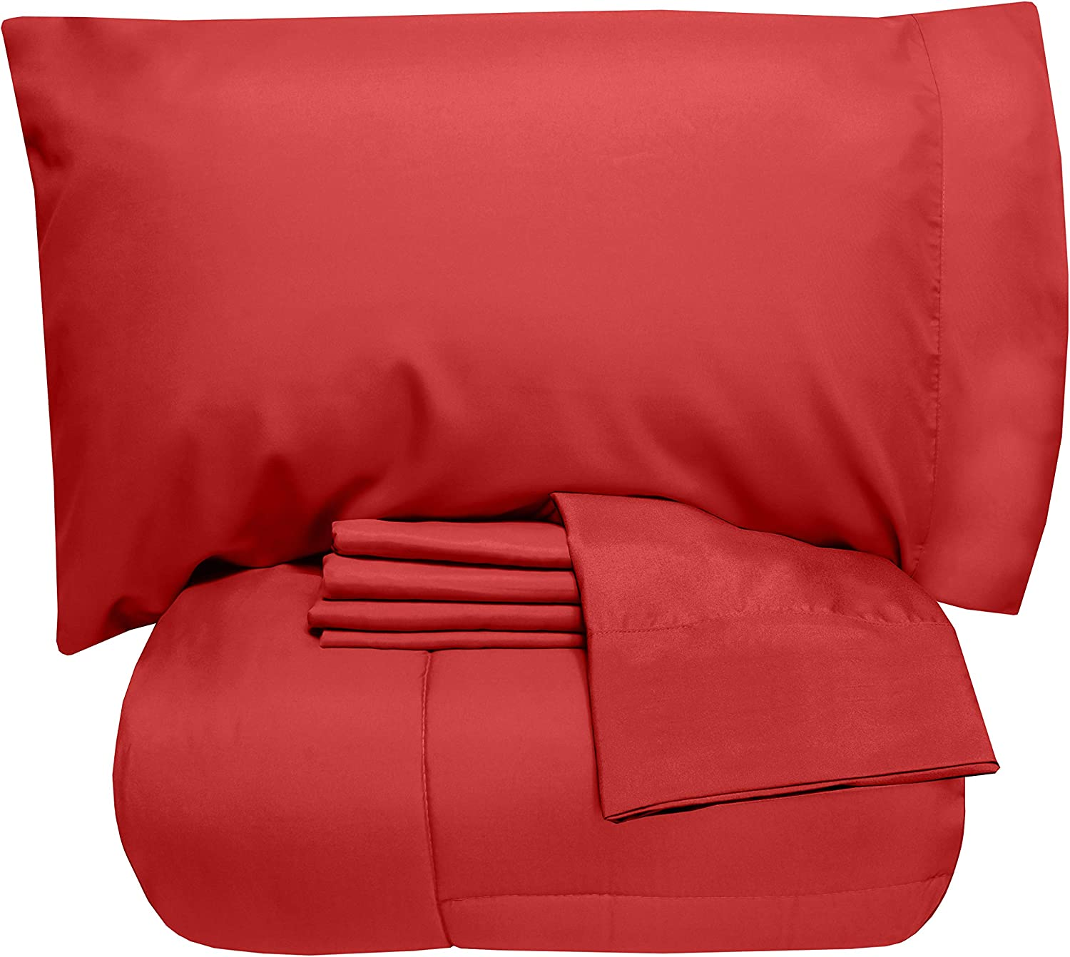 Sweet Home Collection Red Bed Sheet