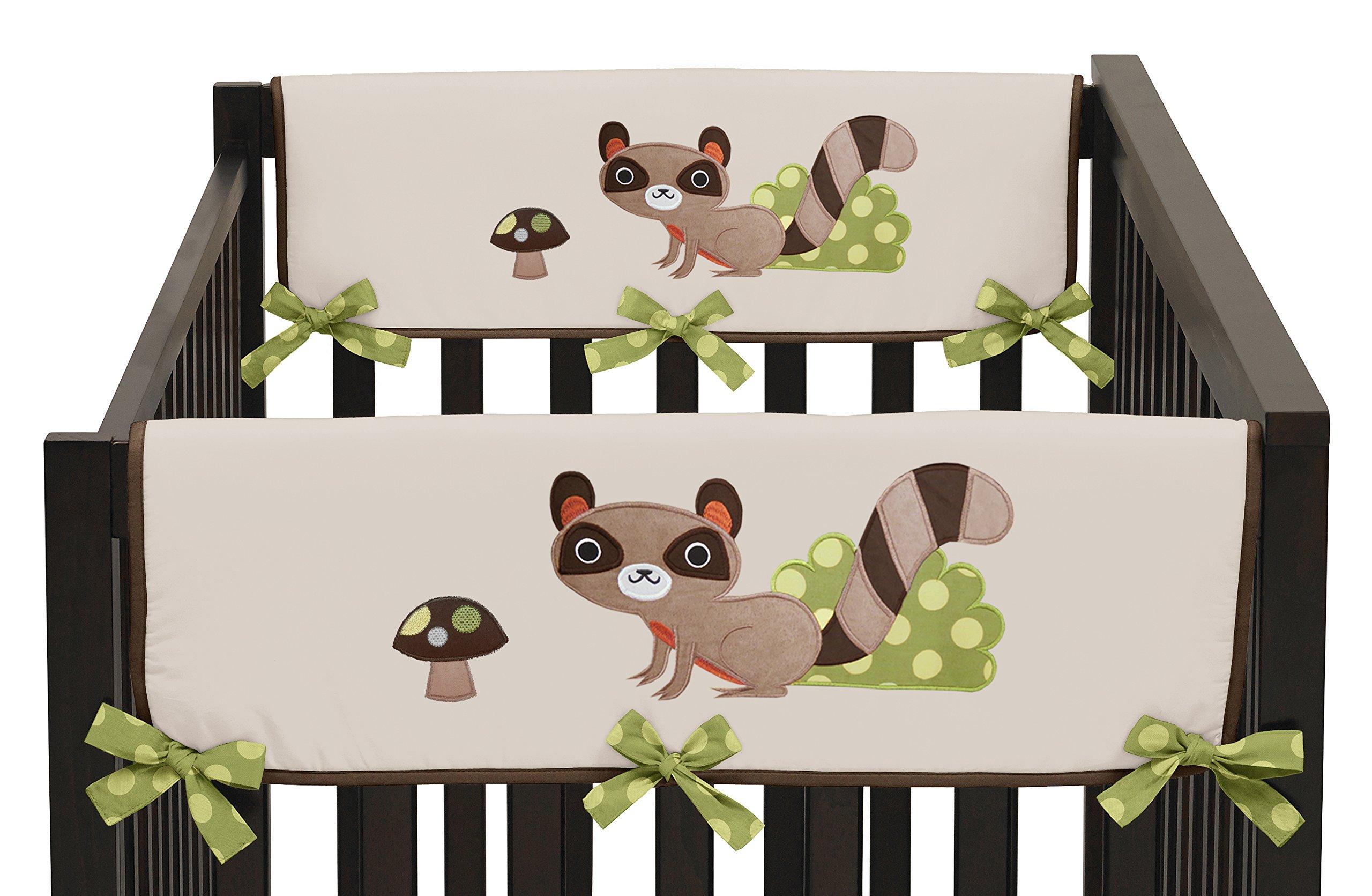 Sweet Jojo Designs 2-Piece Forest Friends Teething Protector Cover Wrap Baby Boy Crib Side Rail Guards by Sweet Jojo Designs