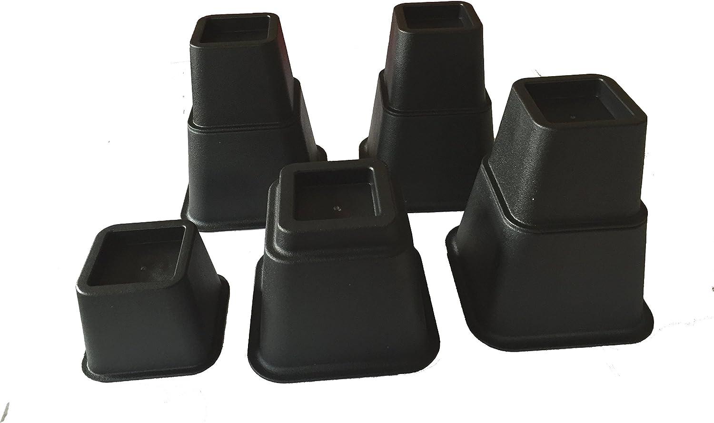 Elevadores para patas de cama (ajuste a 3 alturas)