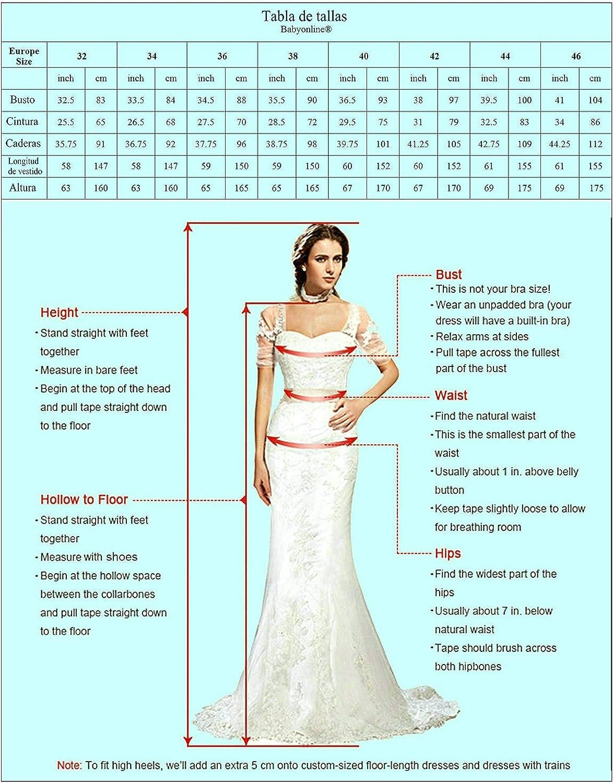 Babyonlinedress Vestido corto para fiesta de noche y para boda ...