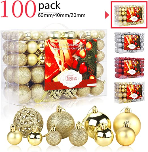 9 Glass Christmas Baubles Deluxe Decorations Red Green Gold STUNNING 80mm LARGE