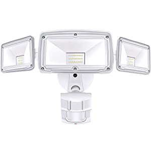 3 Head LED Security Lights Motion Outdoor Motion Sensor Light Outdoor 39W 3500 Lumens 6000k Waterproof IP65 ETL Motion Sensor Flood Light Exterior Security Light led
