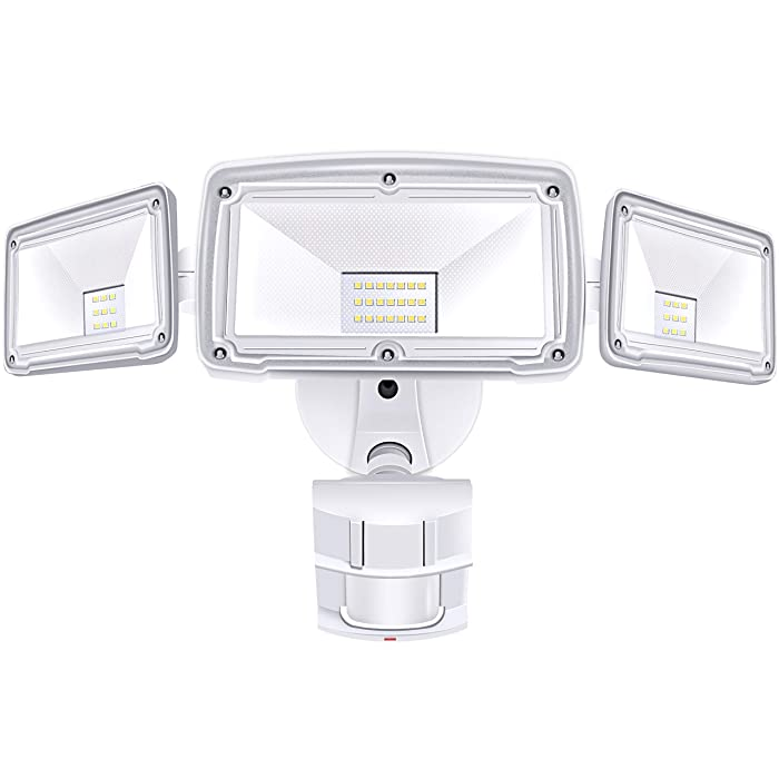 3 Head LED Security Lights Motion Outdoor Motion Sensor Light Outdoor 39W 3500 Lumens 6000k Waterproof IP65 ETL Motion Sensor Flood Light Exterior Security Light led