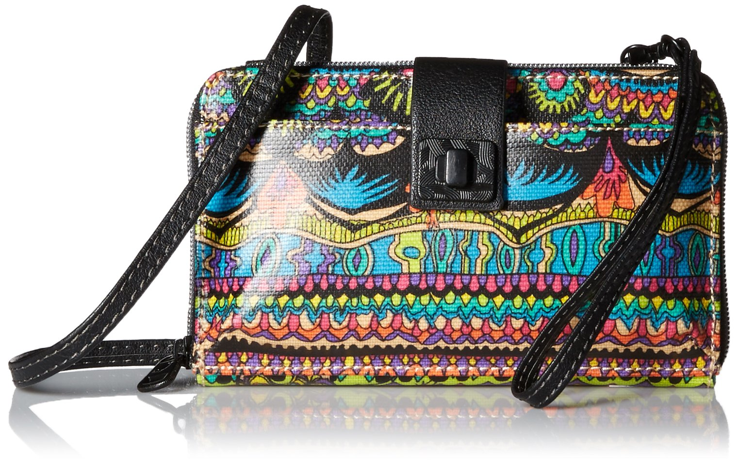 Sakroots Artist Circle Large Smartphone Cross-Body Phone Wallet,Radiant One World
