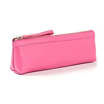 Amazon.com: leatherology Pencil Pouch, Rosado brillante ...