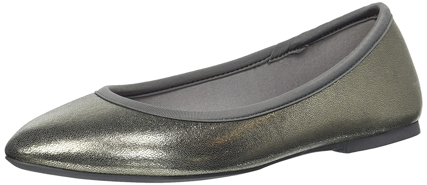 Skechers Women's Cleo-Dazzles-Stretch-Fit Metallic Skimmer Ballet Flat B078WVNXYR 9 B(M) US|Charcoal