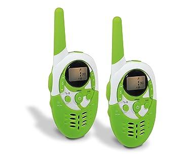 Metronic 477607 Gulli Talkie Walkie avec Batterie Rechargeable / Portée 8 km / Fonction Babyphone Vert