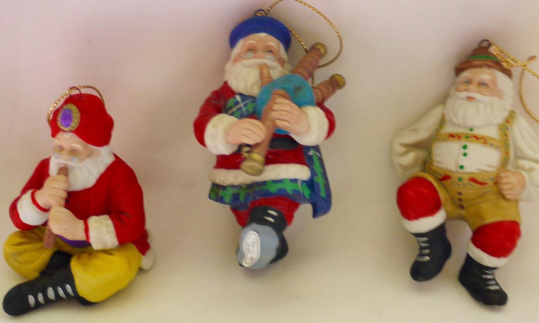 Santas Around the World Set of 2 Ornaments by Danbury Mint